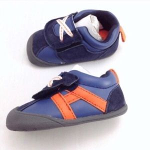 Carter's Oldies blue with orange stripes shoes